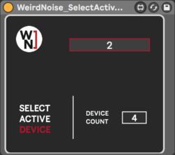 WeirdNoise_SelectActiveChain
